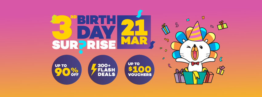 f6743b257775 Lazada 3rd Birthday Sale - Get deals UP TO 90% OFF (+18% PROMO CODE ...