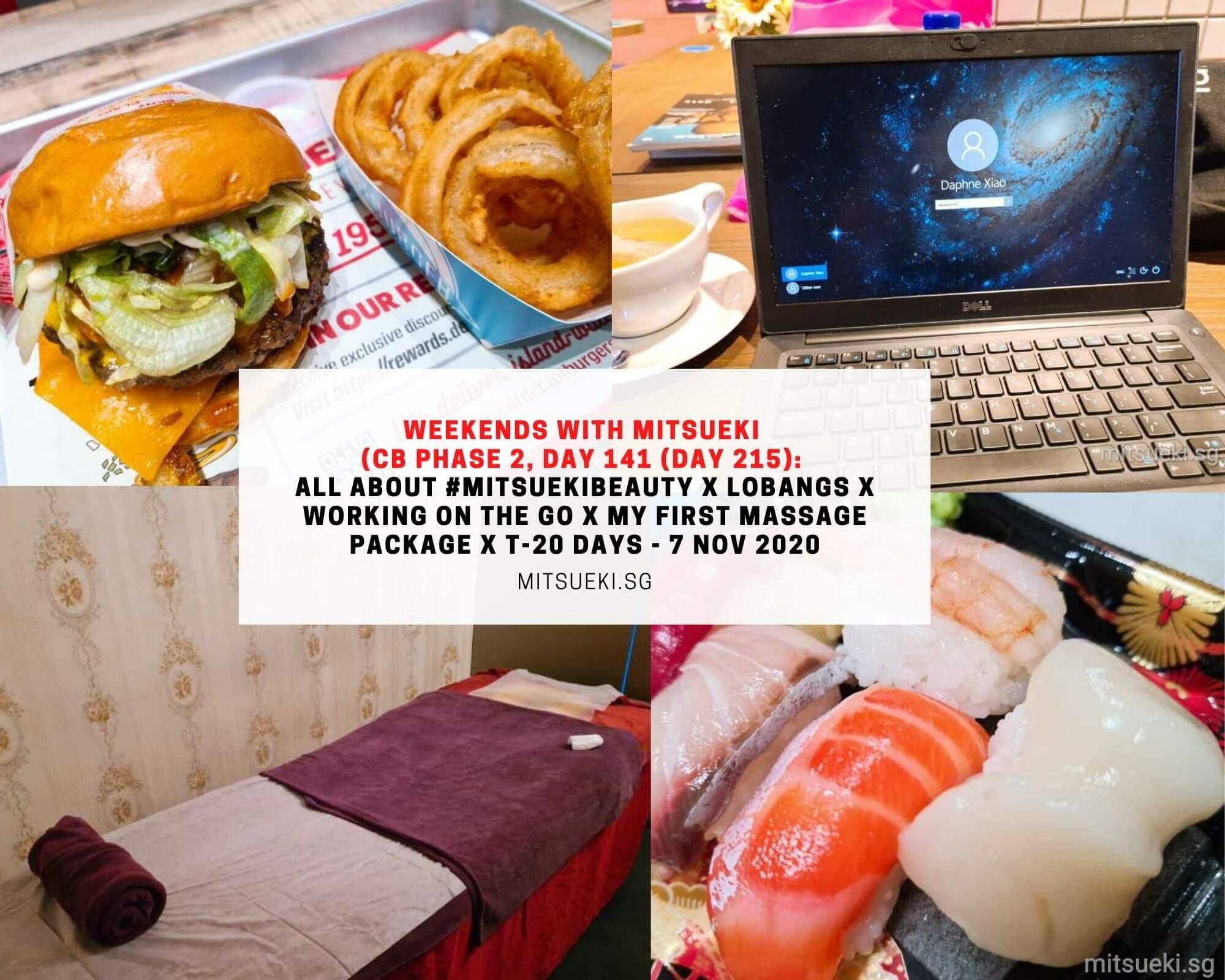 weekends with mitsueki fatburger spa massage