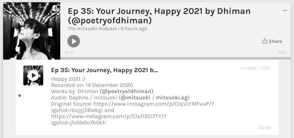 happy 2021 your journey