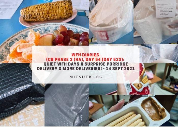 wfh diaries porridge delivery surprise